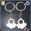 Porte-clés coeur, porte-clés en métal