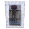 Upvc / pvc vidro duplo de plástico para janela de batente do obturador da grelha