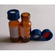 Ámbar y claro Mini atornillan frascos de vidrio para embalaje farmacéutico