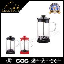 Entspannendes Design Glas Borosilikat Teekanne
