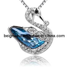 Sw Elements Cristal Indicolite Cor Cisne Colar