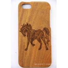 Bricolage personnalisé personnalisé impression cas de téléphone mobile bois, bois bricolage cas de téléphone décoration
