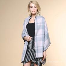 Motif à carreaux femme 100% cachemire hiver châle (YKY4521)