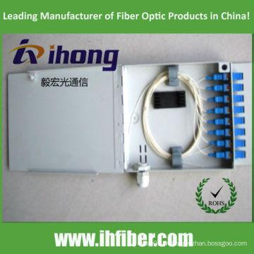 Caixa de terminação de fibra óptica FTTH 8 / caixa de distribuição