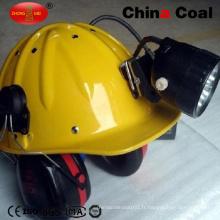 Casque de mineur de charbon de forme en V avec la lumière