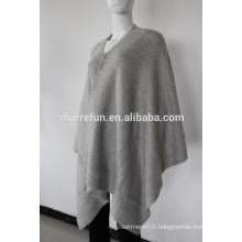 Poncho de cachemire tricoté de côtes de mode à vendre