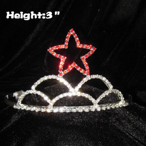 Wholesale Crystal Red Star Tiaras