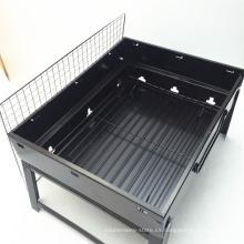 alta calidad al aire libre plegable de acero inoxidable cuadrada parrilla de barbacoa de carbón