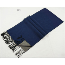 Men′s Womens Unisex 2-Tone Reversible Cashmere Feel Winter Warm Printing Thick Knitted Woven Scarf (SP824)