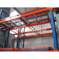 Adjustable Double Deep Warehouse Steel Push Back Rack