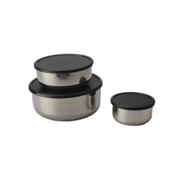 Stainless Steel Salad Bowl Set For 3pcs