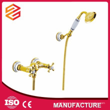 gold plated bathroom faucet bath wall mounted shower faucet set