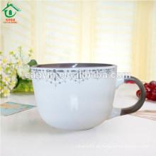 Tazas de café de gran tamaño a granel barato Eco de cerámica de lujo