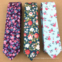 Custom Handprinted Private Label Mens Silk Flower Tie