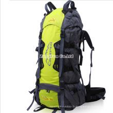 Sac à dos de randonnée en plein air en gros, sac de camping haute capacité 70L