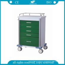 AG-GS001 Dark Green Medical Trolley
