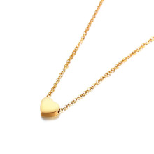 Polished Gold Heart Tiny Stainless steel jewelry Necklace