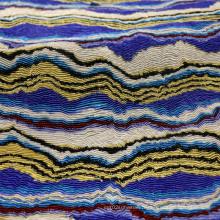 Impression en tissu de crêpes en polyester à deux couches