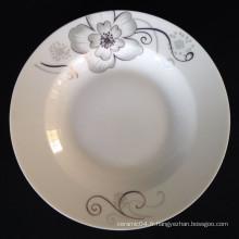 assiette à soupe ronde, assiette en porcelaine de linyi, assiette