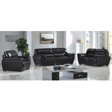 Black Genuine Leather Sofa in Office and Living Room (01)