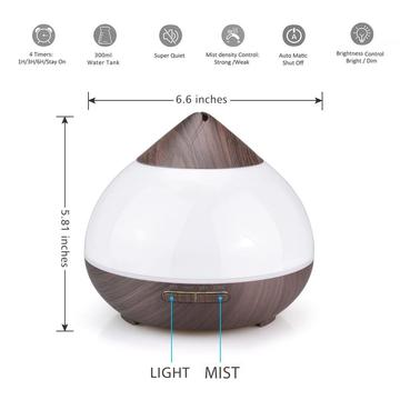 300ml Unique Ultrasound oil Aroma Diffuser