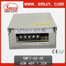 Fonte de alimentação de comutação à prova de chuva LED 60W 48V 1.25A