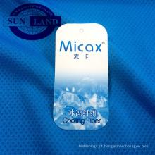 micax knit poliéster cool honeycomb tecido de malha para sportswear