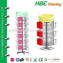 greeting card holders,rack and dispaly for birthday card,24 pocket rotating card spinner display stand