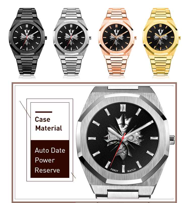 New Fashion Skeleton Style Mens SS Automatic Watch