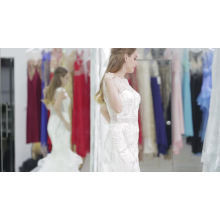 OEM и ODM 2017 новейшие модные дамы кружева свадебные платья женщин блестки вечерние платья макси вечерние платья