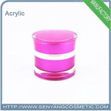 Luxury round acrylic jar acrylic cream jar for cosmetic packaging