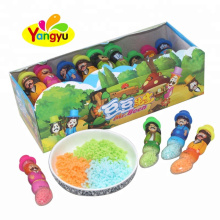 Cartoon Pod Shaped Bottle with Sweet Powder Candy