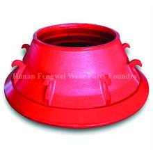 Alto Manganês Steel Casting Mineração Crusher Bowl Liner para Metso