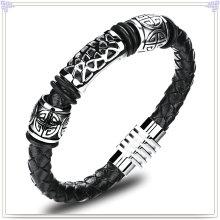 Moda jóias de couro pulseira de couro da jóia (lb418)