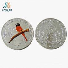 Muestra gratuita de aleación de fundición de aves Logotipo de artesanía metálica de monedas de regalo