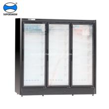 Congelador vertical congelador de exhibición de alimentos congelados de tipo remoto