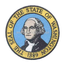 Circle Washington Person Embroidered Badges