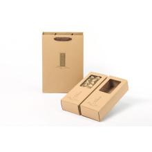Caja de papel con bolsa de compras gratis