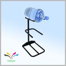 Einfache Stil Metalldraht weiß 5 Gallone Spender Wasser Flasche Lagerung Rack