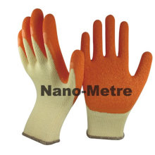 NMSAFETY 10g polyester rubber latex glass handling gloves/latex rubber gloves