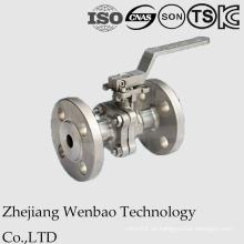 Válvula de bola con brida de fundición de inversión con almohadilla de montaje directo GB