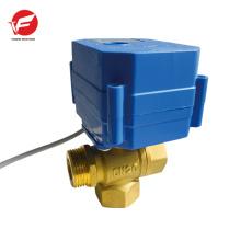 Válvula de controle remoto sem fio de fluxo de bola automática de cobre