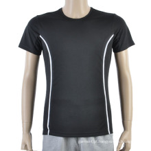 Black Mesh Futebol Homens T Shirt Maker Soccer Jersey