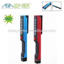 2015 VENDA QUENTE! ABS Material 6 smd Magnetic Pen Work Light