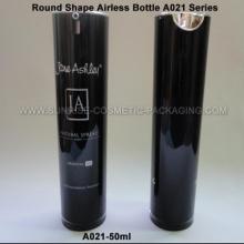 50ml Black Round Shape Acrylic Airless Press Bottle
