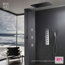 Juego de grifos de ducha LED de pared HIDEEP