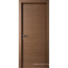 Os projetos home quentes projetaram a porta interior folheada, madeira rústica da porta de entrada