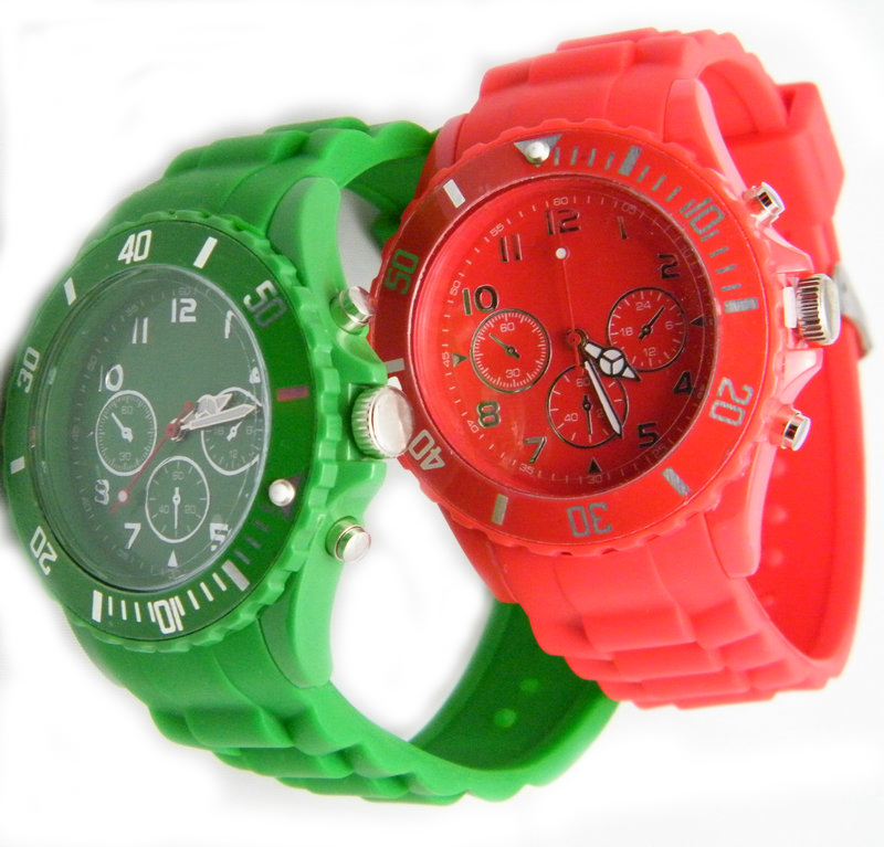 red color ice watches