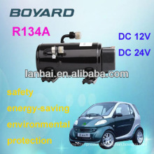 mini air conditioner for cars 12v with Lanhai12v 24v dc car ac compressor