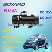 Mini ar condicionado para carros 12v com Lanhai12v 24v dc carro ac compressor